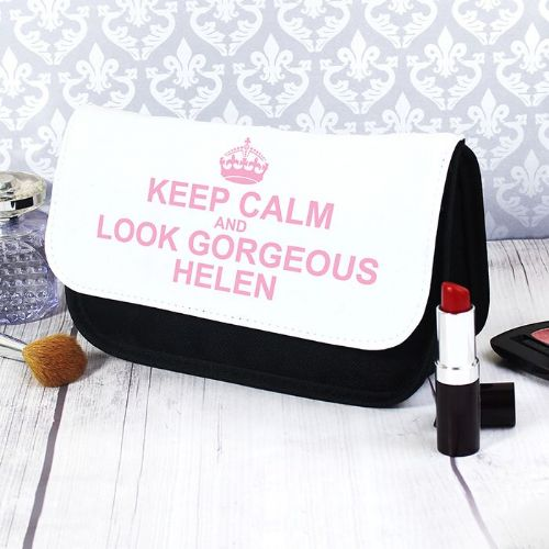 Personalised Keep Calm Make Up Bag